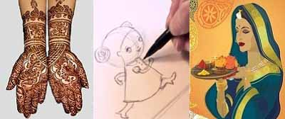 Online Indian Cultural training Skype Lessons Arts,Crafts Learining Classes